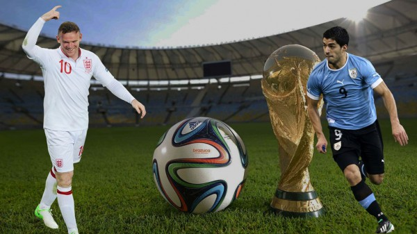 Rooney vs Suarez in Uruguay vs England, FIFA World Cup 2014 wallpaper
