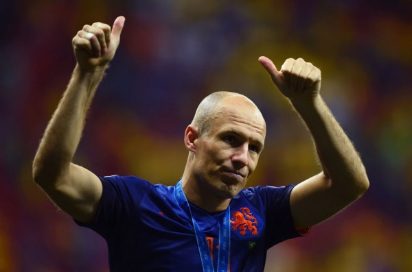 Arjen Robben, Netherlands best player in the FIFA World Cup 2014