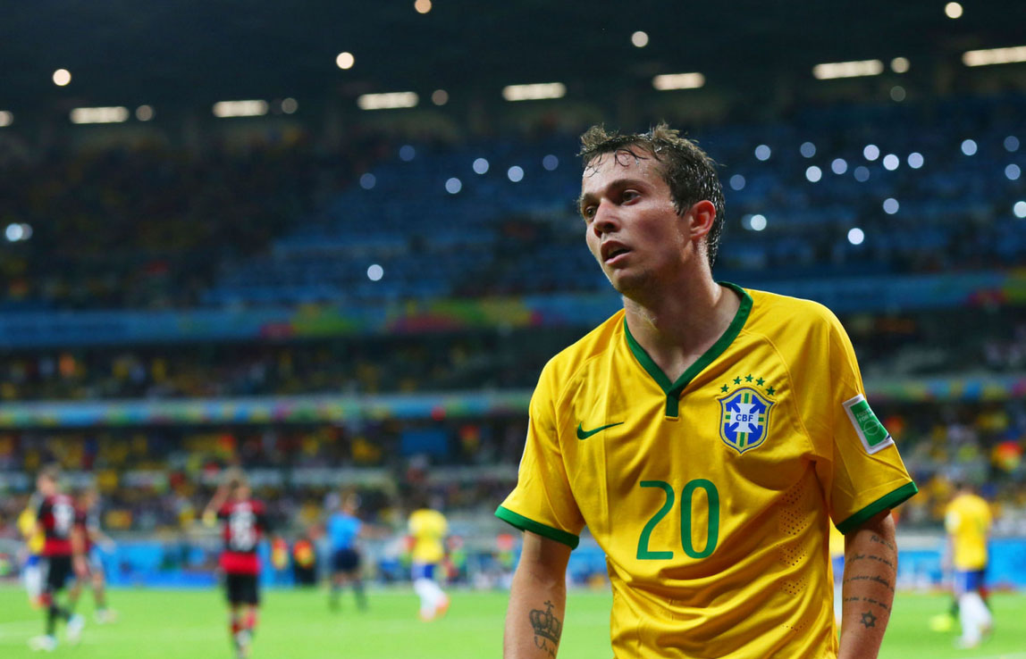 Bernard during Brazil 1-7 loss against Germany
