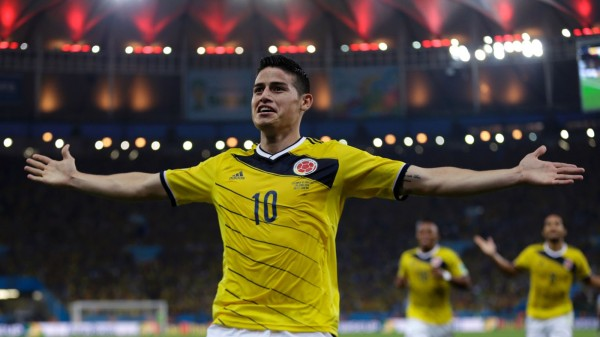 James Rodríguez, Colombia number 10 in the FIFA World Cup 2014