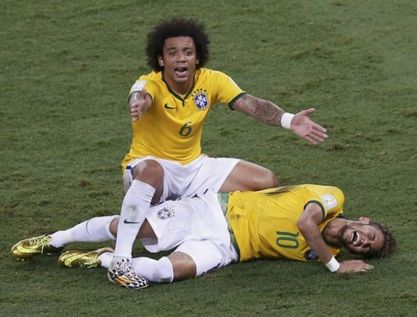 Marcelo worried about Neymar's injury in the World Cup