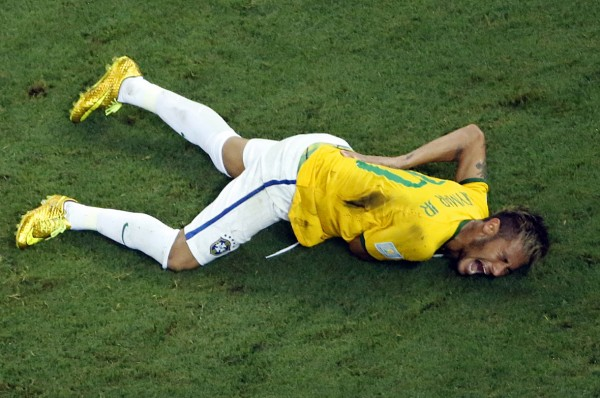Neymar injury in the FIFA World Cup 2014