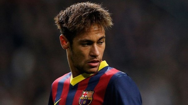 Neymar teenage haircut in FC Barcelona