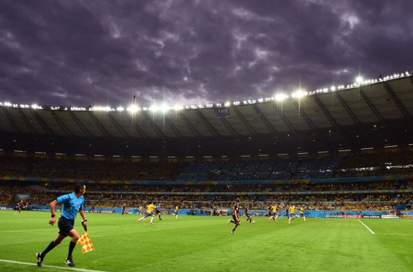 Sky view in Brazil vs Germany, at the 2014 FIFA World Cup
