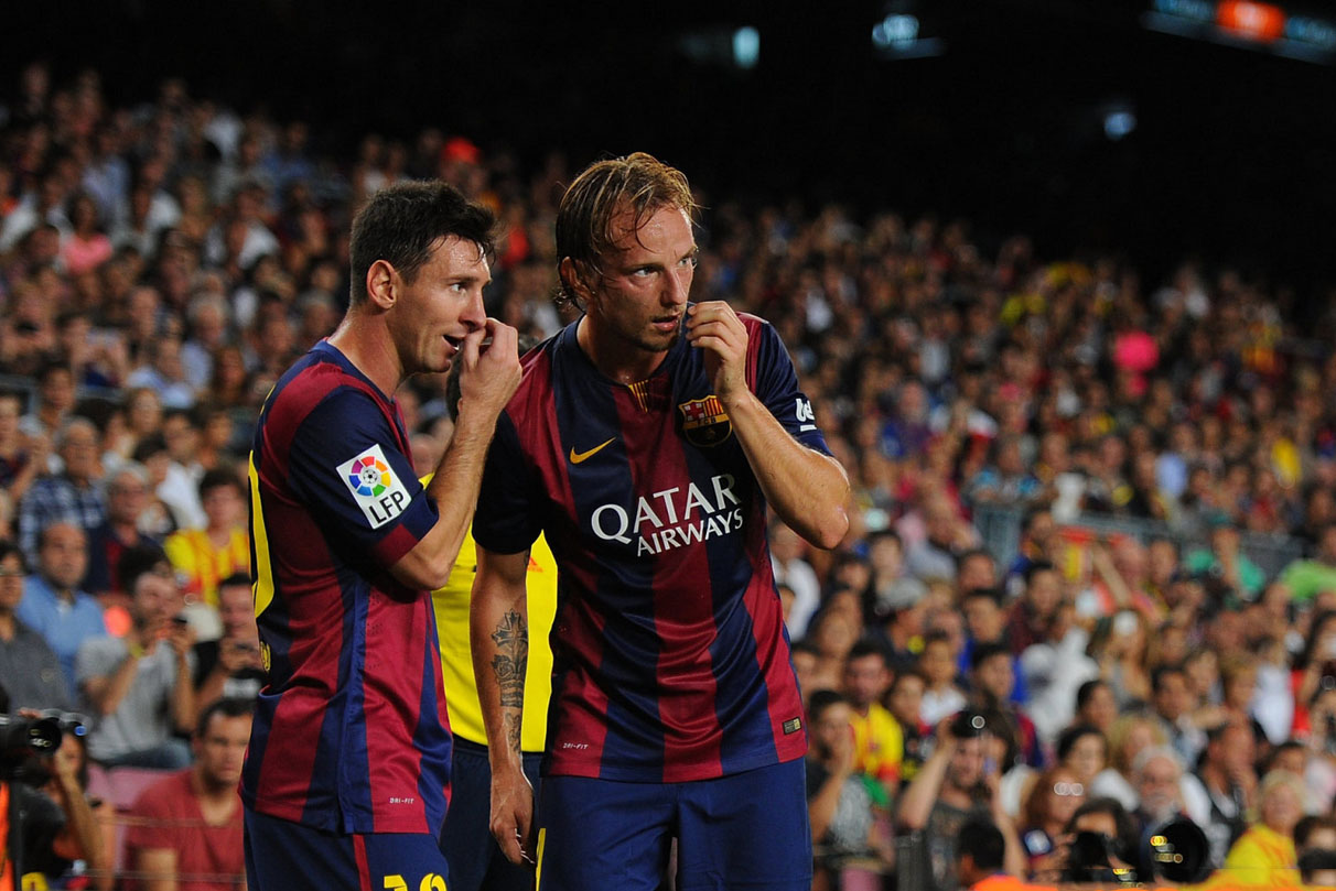 Lionel Messi and Rakitic, in FC Barcelona 2014-2015