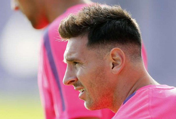 Messi new haircut in 2014