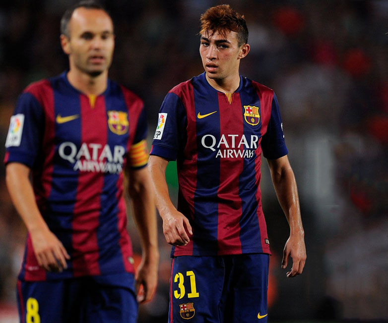Munir El Haddadi in his Barcelona debut