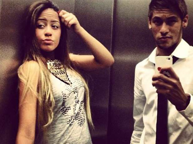 Neymar and his sister Rafaella Beckran