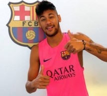 Neymar is back to training but still apart from the rest of the team