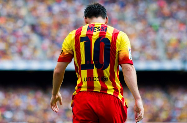 Lionel Messi FC Barcelona number 10 wallpaper