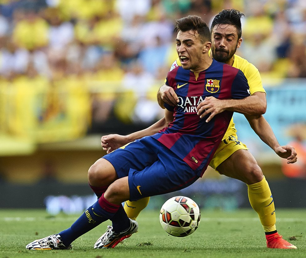 Munir playing for FC Barcelona in 2014-2015