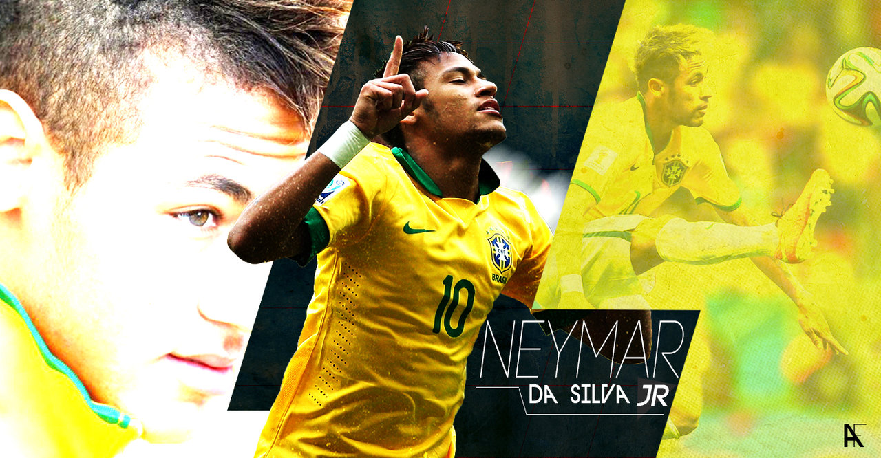 Neymar in a Brazil National Team wallpaper