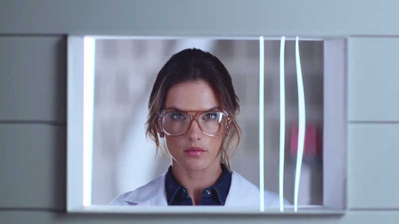 Alessandra Ambrosio playing doctor in Replay's jeans commercial