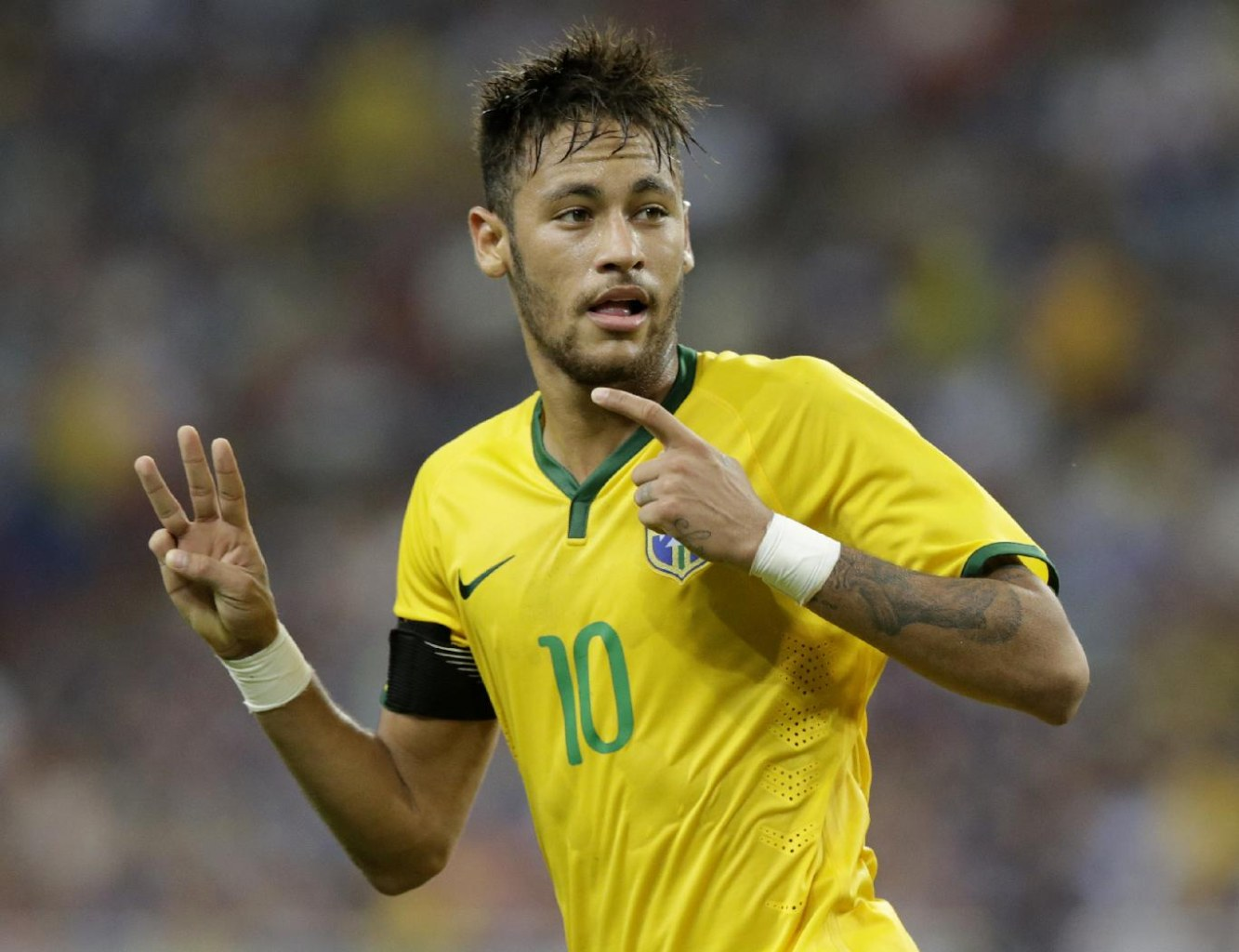 Neymar in the Brazilian National Team, in October of 2014
