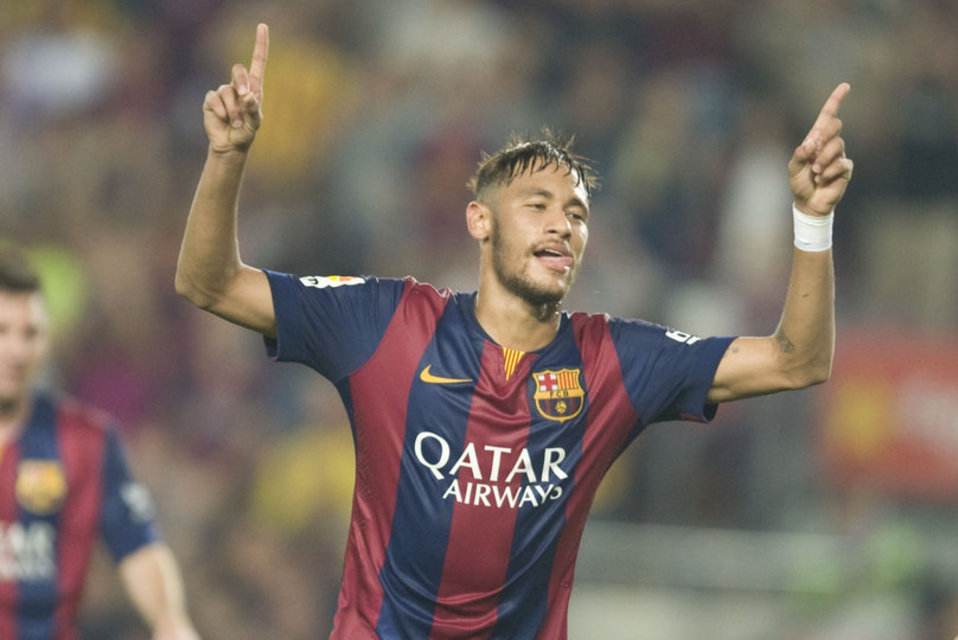 Neymar Jr celebrating goal for Barcelona