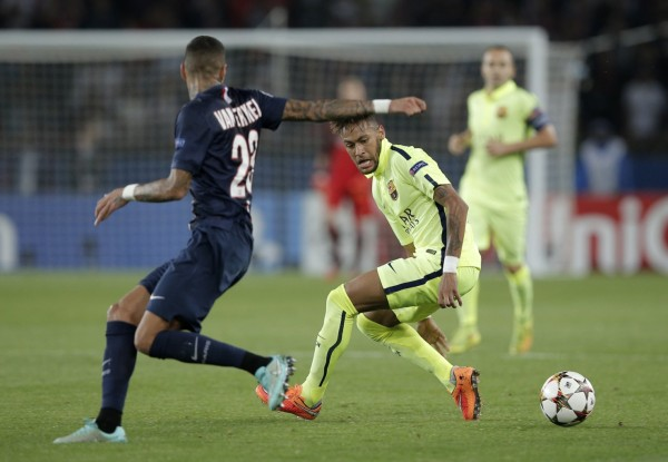 Neymar trick in a UEFA Champions League game for FC Barcelona