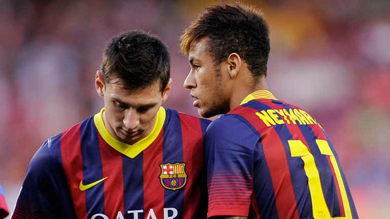 Lionel Messi and Neymar Jr in FC Barcelona
