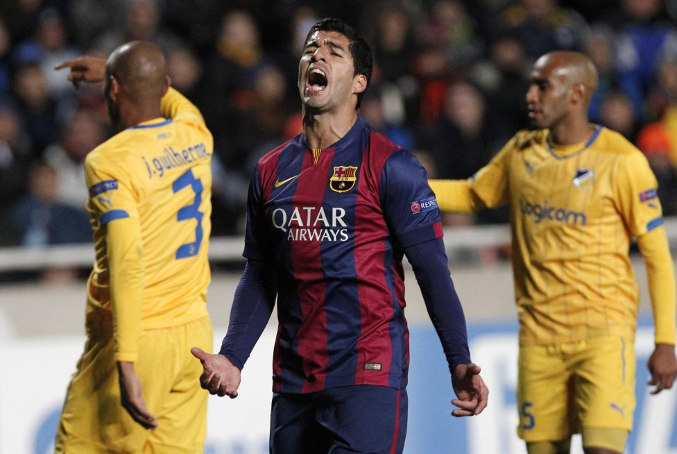 Luis Suárez frustration in FC Barcelona 2014-2015