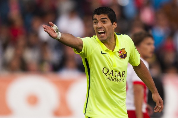 Luis Suarez playing for FC Barcelona