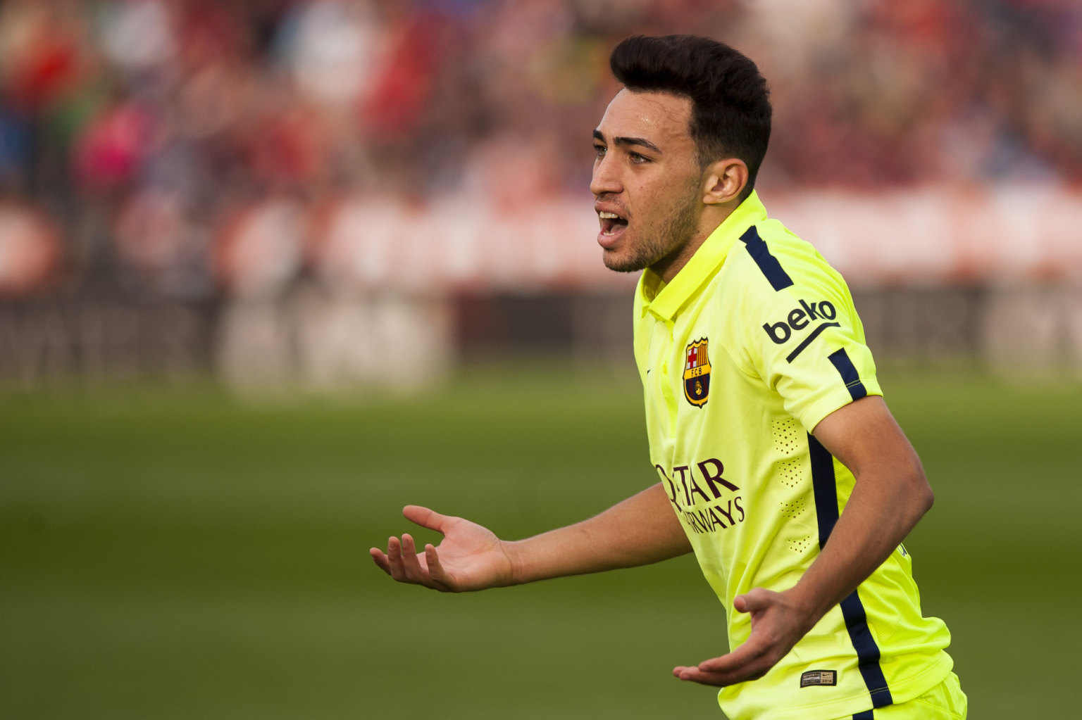 Munir playing in Almeria 1-2 Barcelona, for La Liga