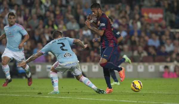 Neymar showing off his ability and skills