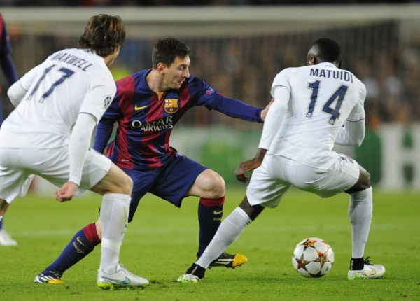 Lionel Messi in action in Barcelona vs PSG, in a Champions League night