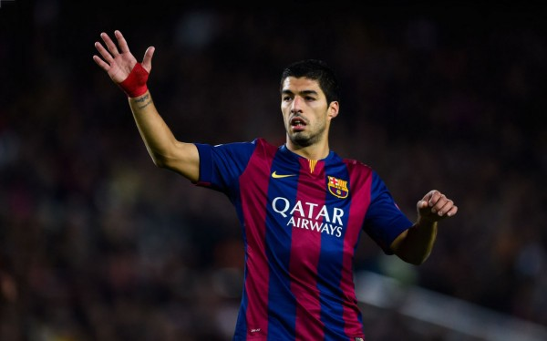 Luis Suárez in FC Barcelona, in a UEFA Champions League game