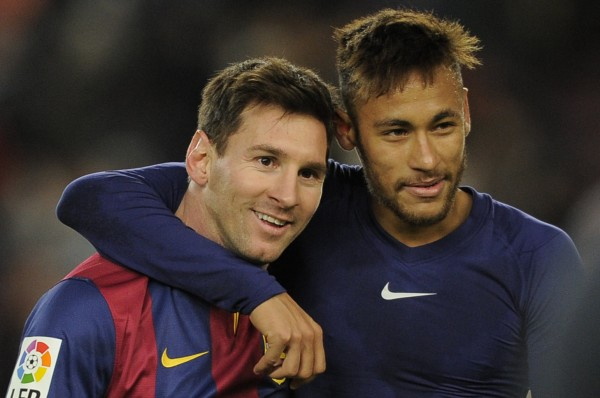 Lionel Messi and Neymar Jr best friends forever