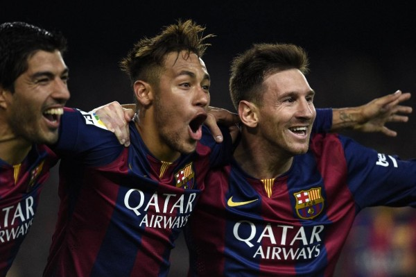 Suarez, Neymar and Messi in Barcelona 2015