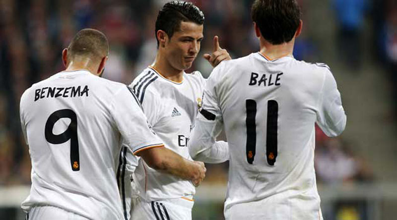 Real Madrid BBC, Bale, Benzema and Cristiano Ronaldo