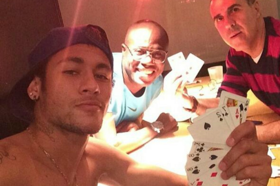 Neymar in a poker game