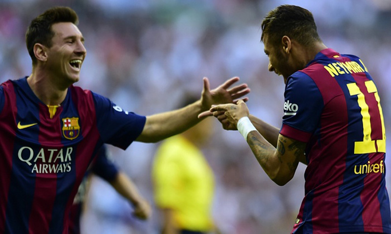 Messi and Neymar in FC Barcelona