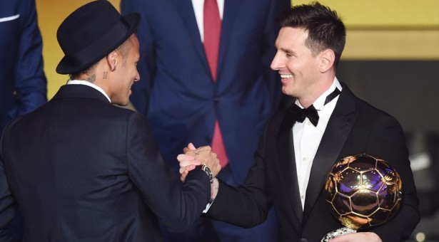 Neymar finishes 3rd at the 2015 FIFA Ballon d'Or awards