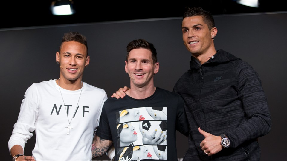 Neymar, Messi and Ronaldo best friends photo