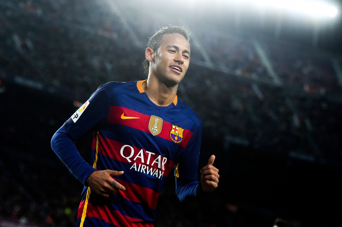Neymar in Barcelona in 2016