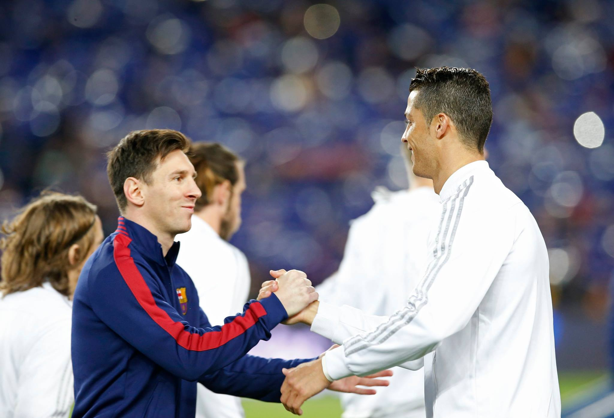 Lionel Messi and Cristiano Ronaldo friends in El Clasico between Barcelona and Real Madrid in 2016
