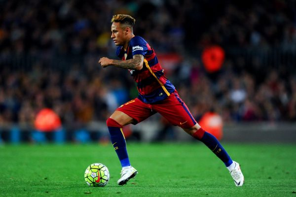 Neymar playing for FC Barcelona in 2016