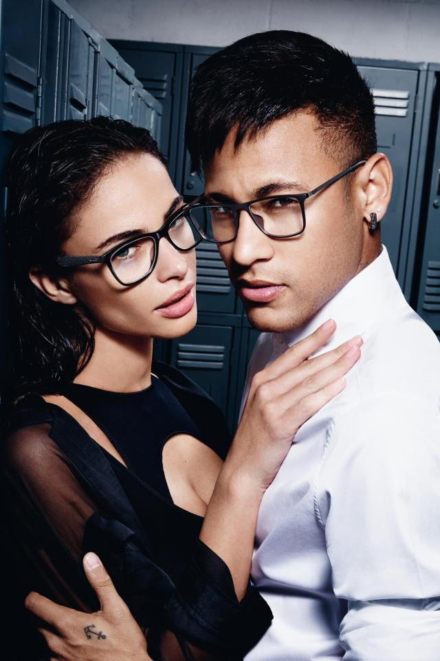 Despite not needing it on the pitch, Neymar's latest ad campaign has him showing off the luxurious eyewear stylings of Italian-brand Police
