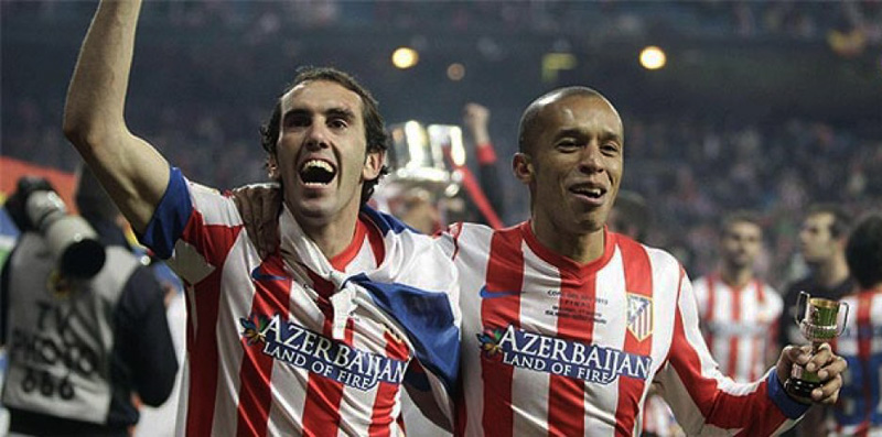 Miranda and Diego Godín in Atletico Madrid
