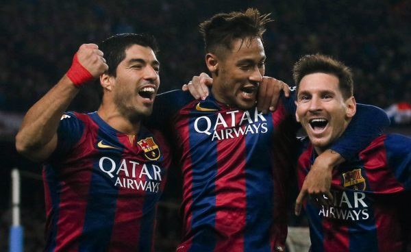 Suarez, Neymar and Messi in FC Barcelona