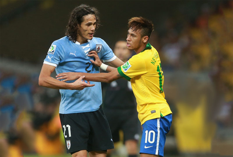 Cavani and Neymar fight