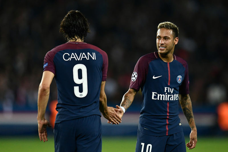 Cavani and Neymar in PSG in 2017