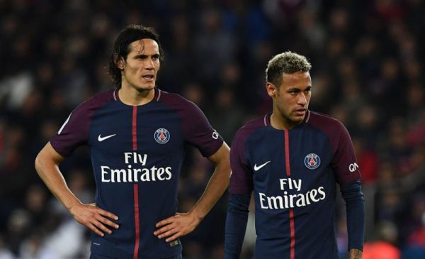Edison Cavani and Neymar Jr in PSG in 2017