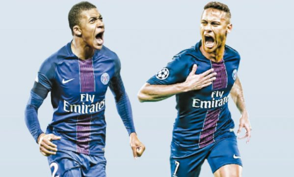 Mbappe joins forces with Neymar at PSG
