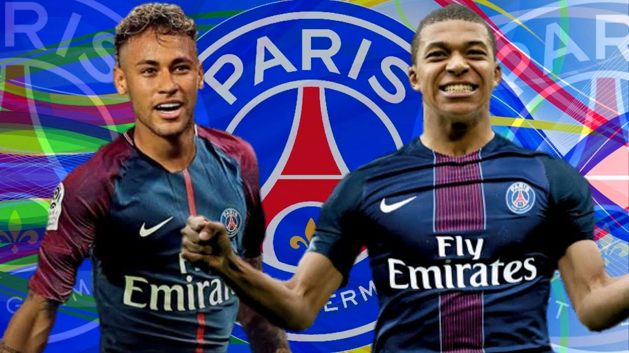 Neymar and Mbappé in PSG in 2017