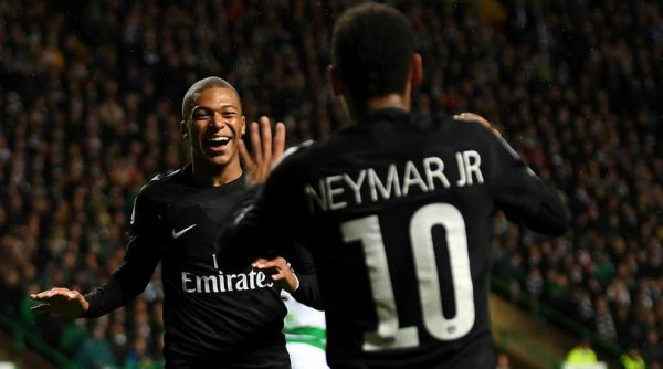 Mbappé and Neymar PSG attackers