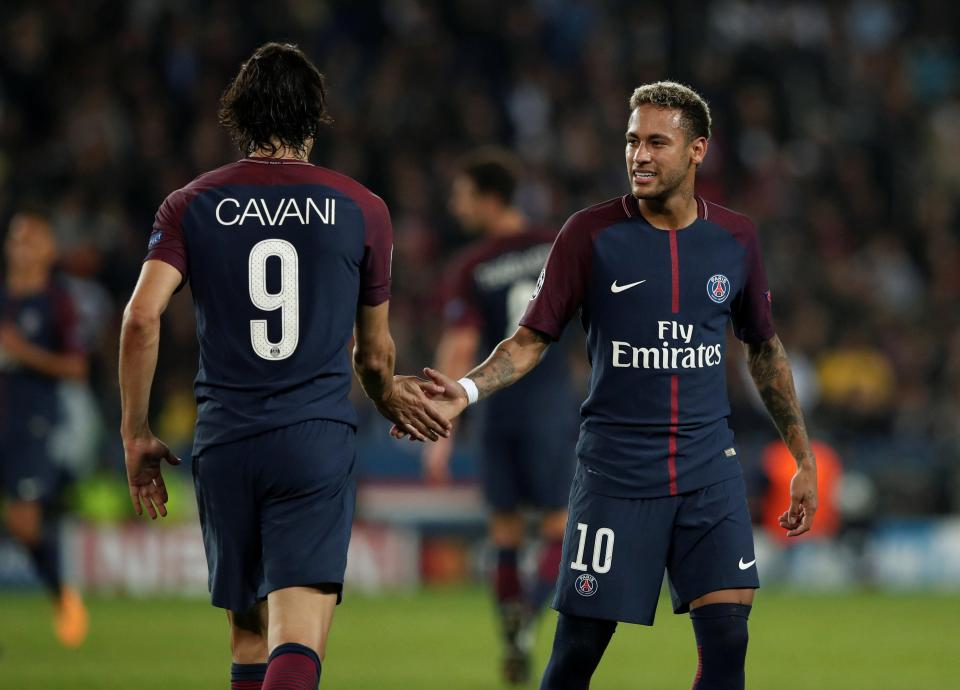 Cavani and Neymar happy in PSG