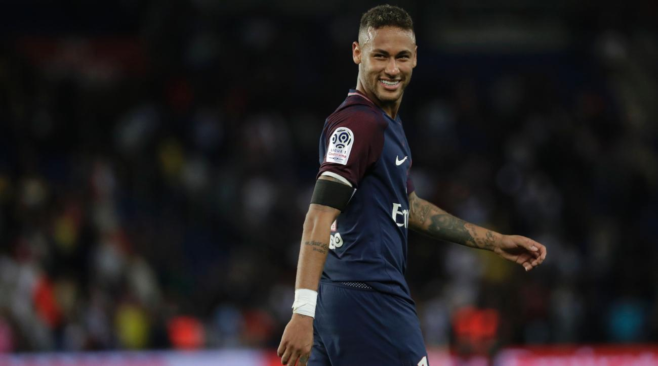 Neymar in action for PSG in France