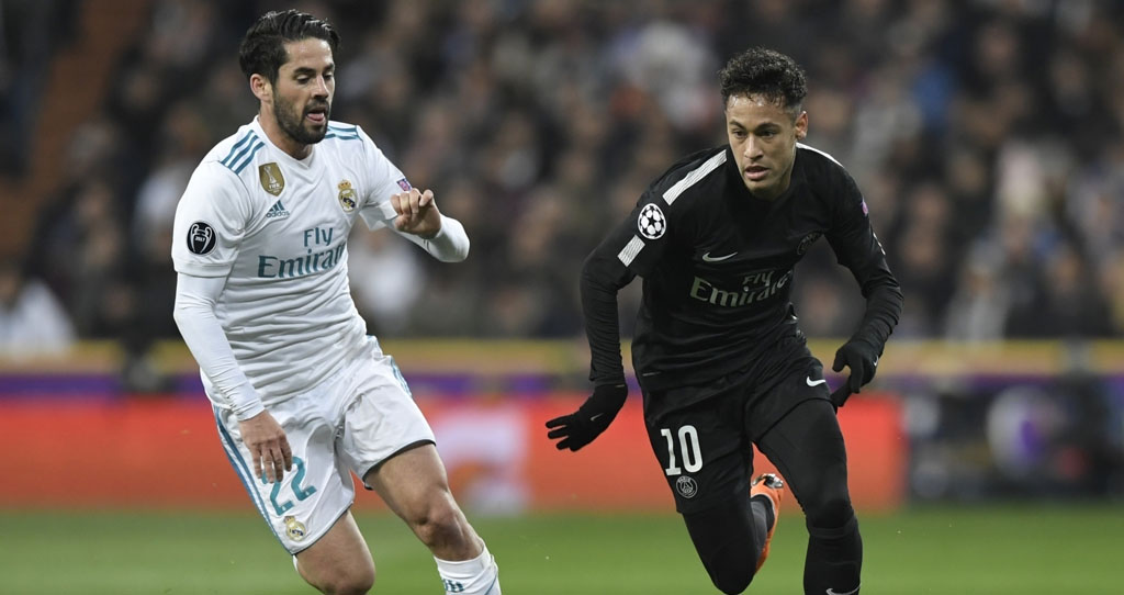 Neymar playing vs Real Madrid