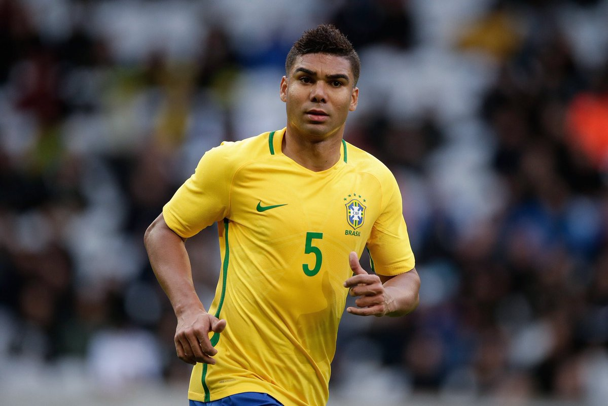 Casemiro in the Brazil National Team in 2018